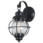 Hatteras  Small Wall Lantern In Black
