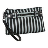 Stripe Cosmetic Wristlet