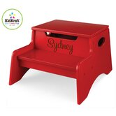 Personalized Step N' Store Stool in Red