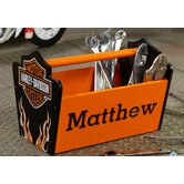 Personalized Harley Davidson Flames Toy Caddy