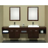 "94.1"" Shelf Bridge Wall Mount Bathroom Vanity"