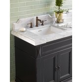 "73"" x 22"" Torino Stone Top with Double Undermount Sink Cutouts"