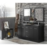 Arden Double Bathroom Vanity Set with WideAppeal Top