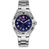 Brigade Military Wrist Watch with Petrol Blue Sunray Dial and Bracelet