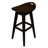 Thoroughbred 32&quot; Backless Swivel Bar Stool in Espresso