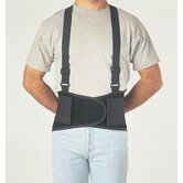 "Black Economy Belt 8"" Back Support W/Suspenders Size Medium 32"" To 38"""