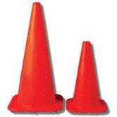 "Orange 10 W Series Traffic Cone With Orange Base And 4"" And 6"" Collars"