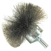 "Circular Flared End Brushes-NF Series - nf30s 3""x.008 ss end brush circular fl"