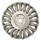 Medium Face Standard Twist Knot Wire Wheels-TS & TSX Series - ts12s .0118/ss knot wheel brush 1-1/4 arbor