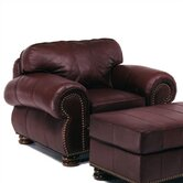 Beaumont Leather Chair and Ottoman