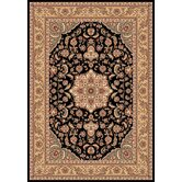 Kashan Cambridge Black/Beige Medallion Rug