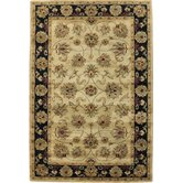Taj Palace Sand/Black Allover Kashan Rug