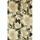 Catalina Black/White Dream Flora Rug