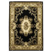 Corinthian Black/Ivory Aubusson Rug
