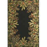 Emerald Black Tropical Border Rug