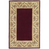 Ruby Floral Bordered Rug