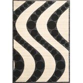 Onyx Ivory/Black Waves Rug