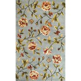 Chateau Blue Spray Roses Rug