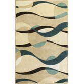 Eternity Ivory/Blue Orbit Rug