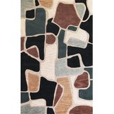 Milan Beige/Blue Bedrock Rug