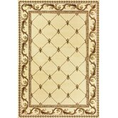 Corinthian Ivory Fleur-De-Lis Rug
