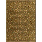 Corinthian Green Vine Brocade Rug