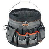 Arsenal 56-Pocket Bucket Organizer in Gray