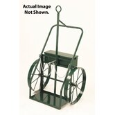 "Cylinder Cart With Firewall And 2"" X 24"" Steel Wheels"
