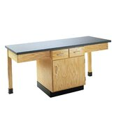 2 Station Science Table With Storage Cabinet &amp; Drawers
