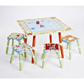 Alphabet Soup Kids' 5 Piece Table and Chair Set