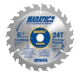 Marathon Cordless Circular Saw Blades - 6-1/2in x 24t framing/ripping 5/8in arbor - bulk