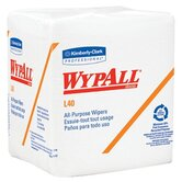 WypAll&reg; L40 Wipers - 12.5&quot;x14.4&quot; white q-foldwypall wiper 56/pk