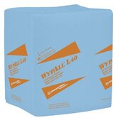 WypAll&reg; L40 Wipers - 12.5&quot;x14.4&quot; blue q-foldwypall wiper 1-ply 56 pe