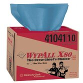 WypAll&reg; X80 Towels - wypall x80 blue wiper 160 sheets per box
