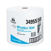 WypAll&reg; X60 Wipers - wypall x60 teri wiper jumbo roll wht 1 100 per r