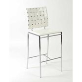 Carlsen Counter Chair in White Set of 2