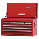 "440SS Top Chests w/Drop Front - red drop front chest 27x15"" 6 drawer"