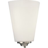 Energy Star Glass Fluorescent Wall Sconce with Electronic Ballast in Brushed Nickel
