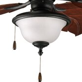 Ashmore Two Light Bowl Ceiling Fan Light Kit