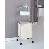 Metro Three Tier Laundry Cart in Chrome