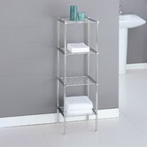 Metro Four Tier Etagere in Chrome