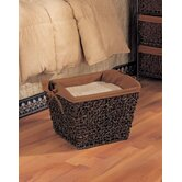 Twist Storage Basket in Rustic Brown Stain