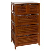Chestnut Five Drawer Storage Chest in Chestnut