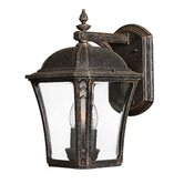 "Wabash  13"" x 8.25"" Outdoor Wall Lantern in Mocha"