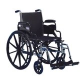 Flip Back Height Wheelchair Fixed Full Arms