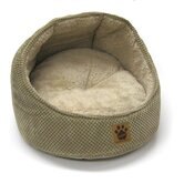 Hooded Cat Bed in Tan