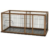 Expandable Medium Pet Pen With Tray in Autumn Matte Finish