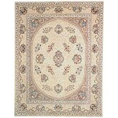 Persian Court Ivory Kerman Rug