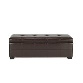 Maiden Leather Entryway Storage Ottoman