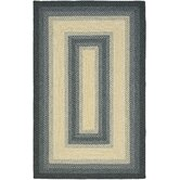 Braided Black/Grey Rug